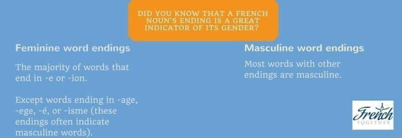 French nouns gender