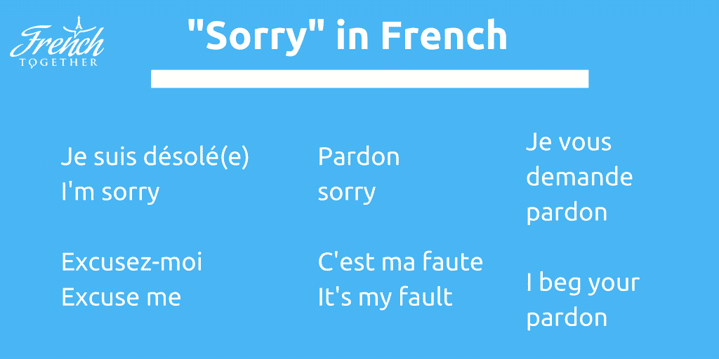 "11 Authentic Ways to Say ""Sorry"" in French – French Together"
