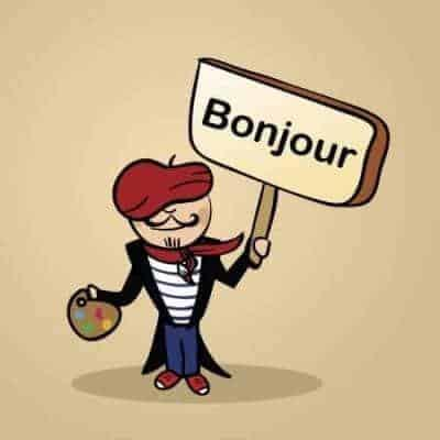 French greeting bonjour