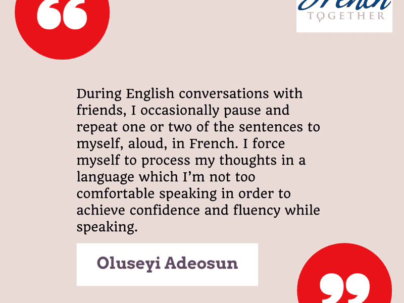 French Learner Interview Series: Seyi on Understanding Spoken French and thinking French