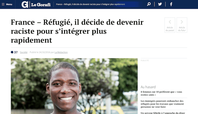 gorafi french satirical newspaper