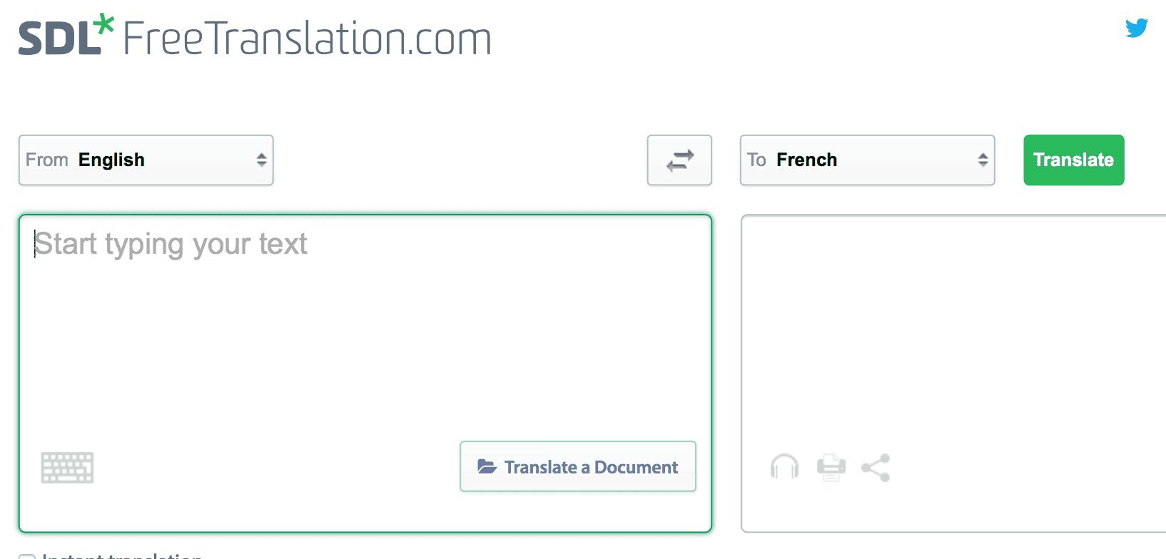 SDL Free Translation French