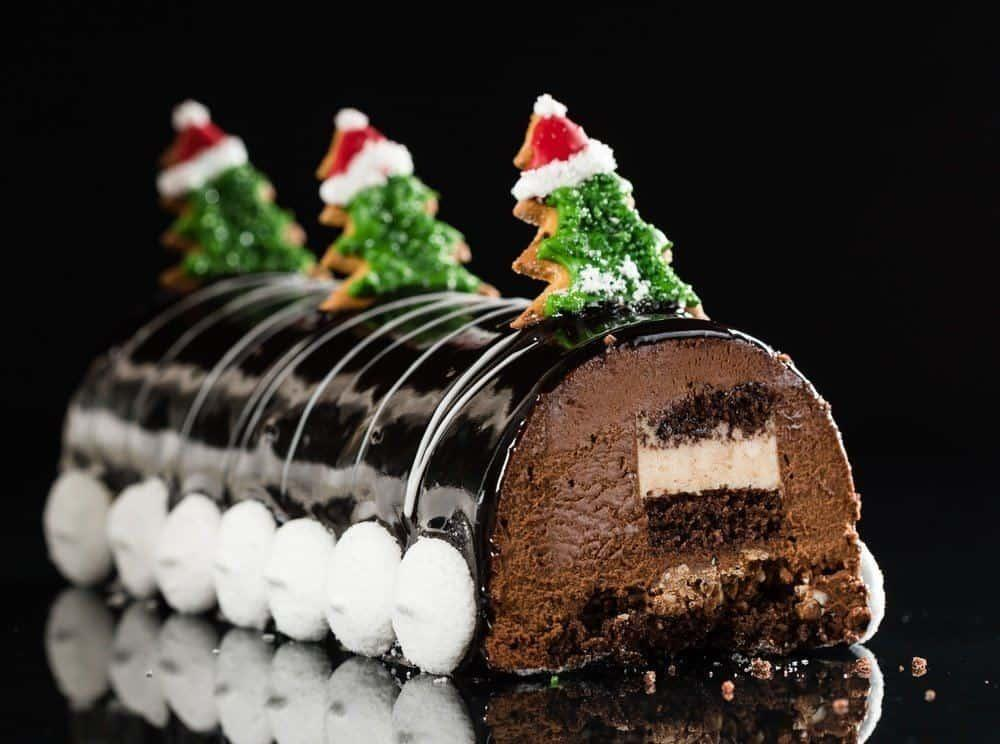 Chrismtas chocolate yule log