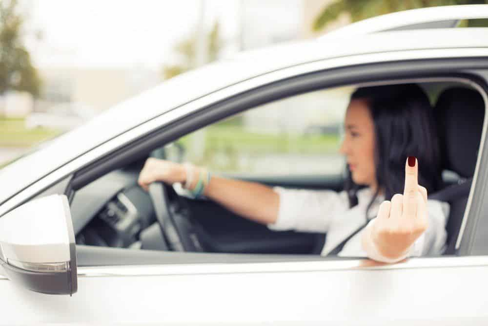 young woman driving