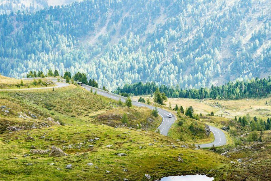 Beautiful Curvy Road in Austrian Nature