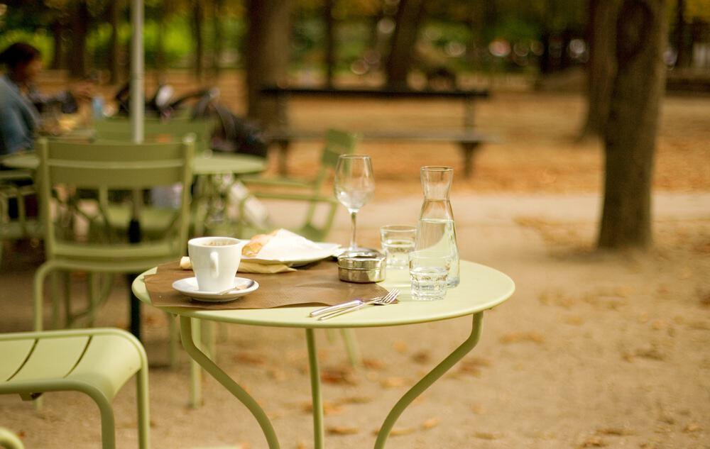 cafe in a Parisian garden