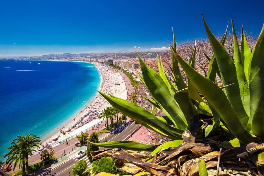 Nice city beach, France