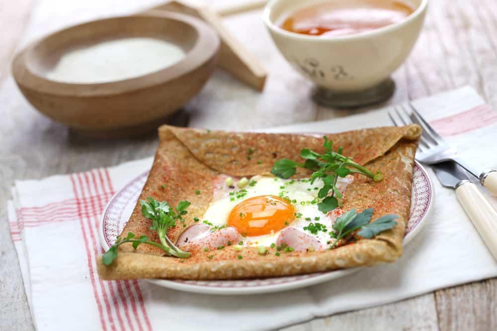 buckwheat savoury crepe with cidre