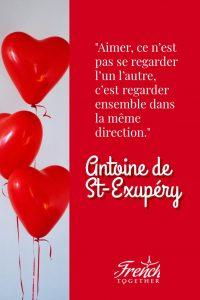 French love quote by Antoine de Saint Exupery