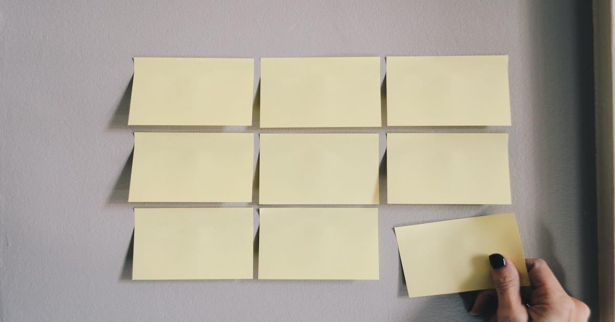 6 sticky notes