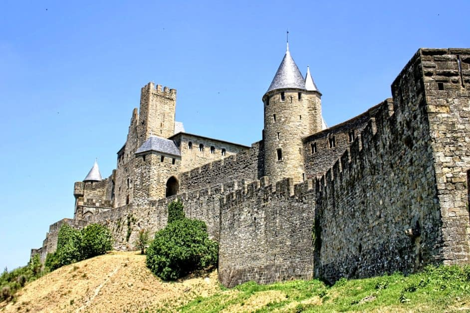 The medieval ramparts of the city of Carcassonne