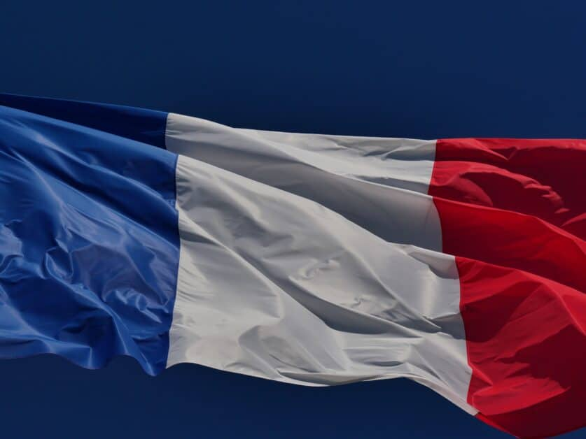 The French flag, another symbol of France.